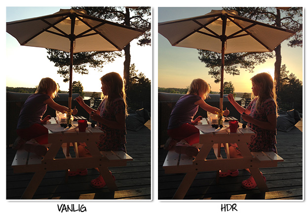 Vanlig bild vs HDR-bild