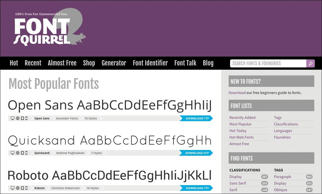 typsnitt gratis online