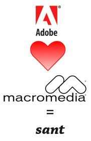 Adobe hjärta Macromedia lika med sant