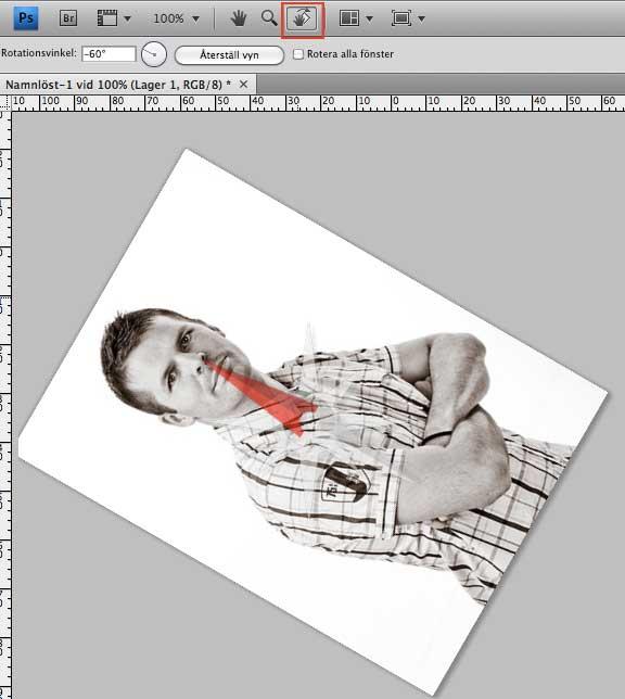 rotera bild photoshop